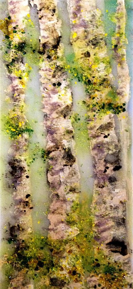 """""""birch stroke"""" original fine art by Kristen Dukat"""