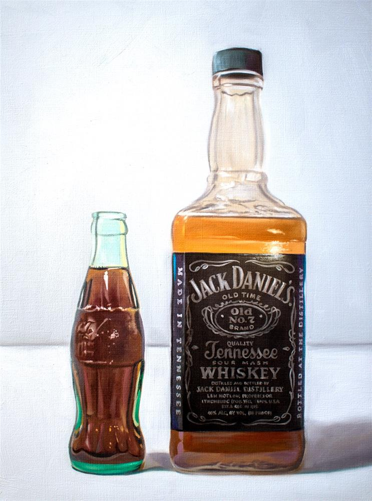 """Whiskey and Coke"" original fine art by Lauren Pretorius"