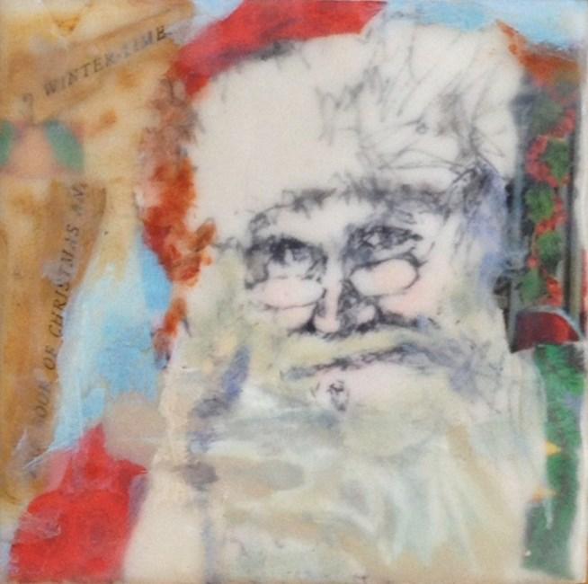 """""""Santa"""" original fine art by Katie Wilson"""