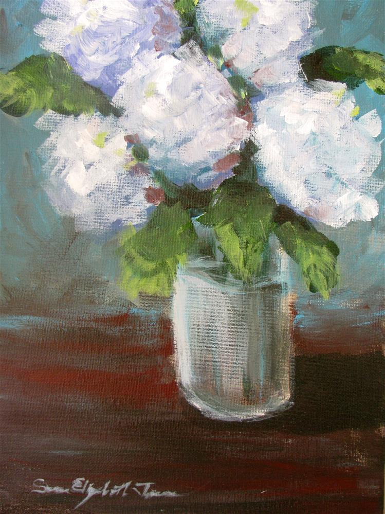 """Hydrangeas"" original fine art by Susan Elizabeth Jones"