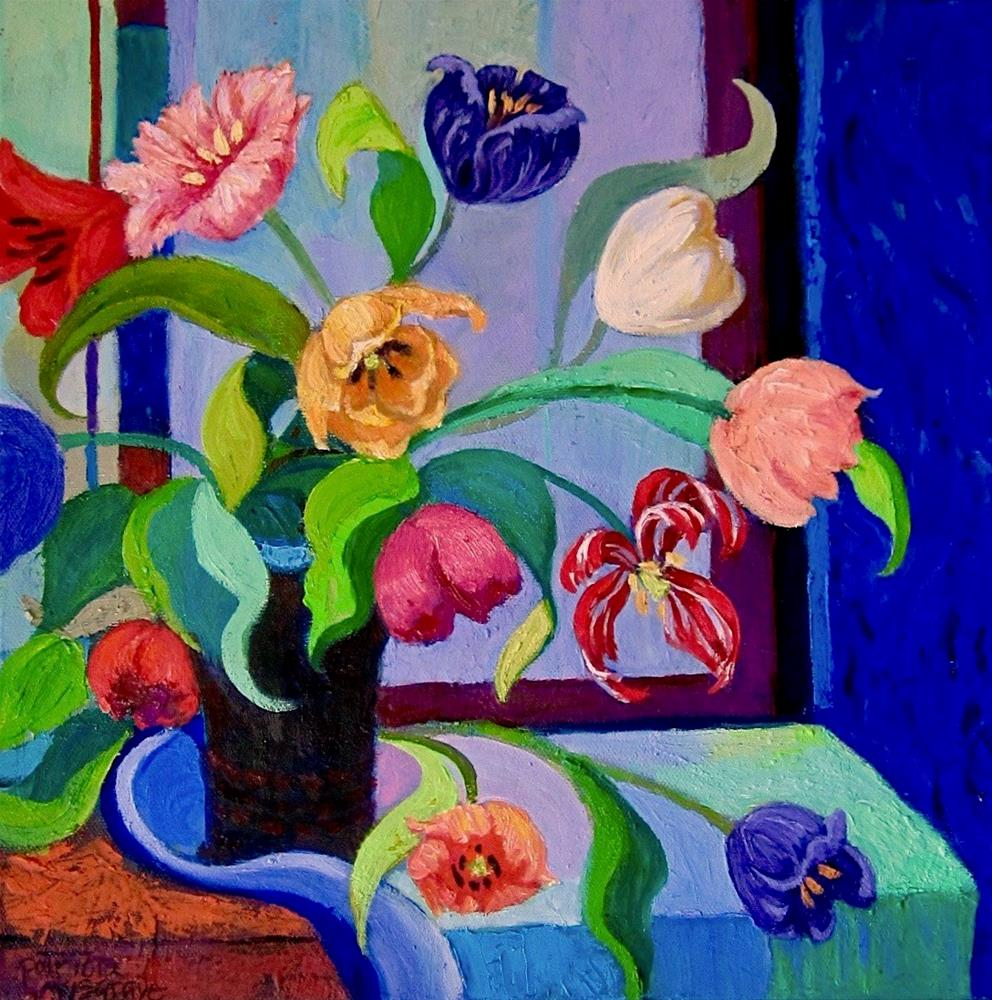 """Modern Tulips"" original fine art by Patricia Musgrave"