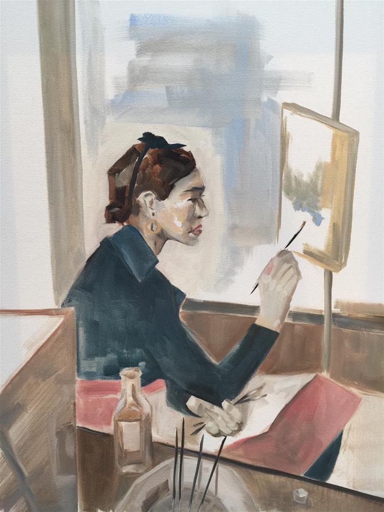 """324 Strange Frida"" original fine art by Jenny Doh"