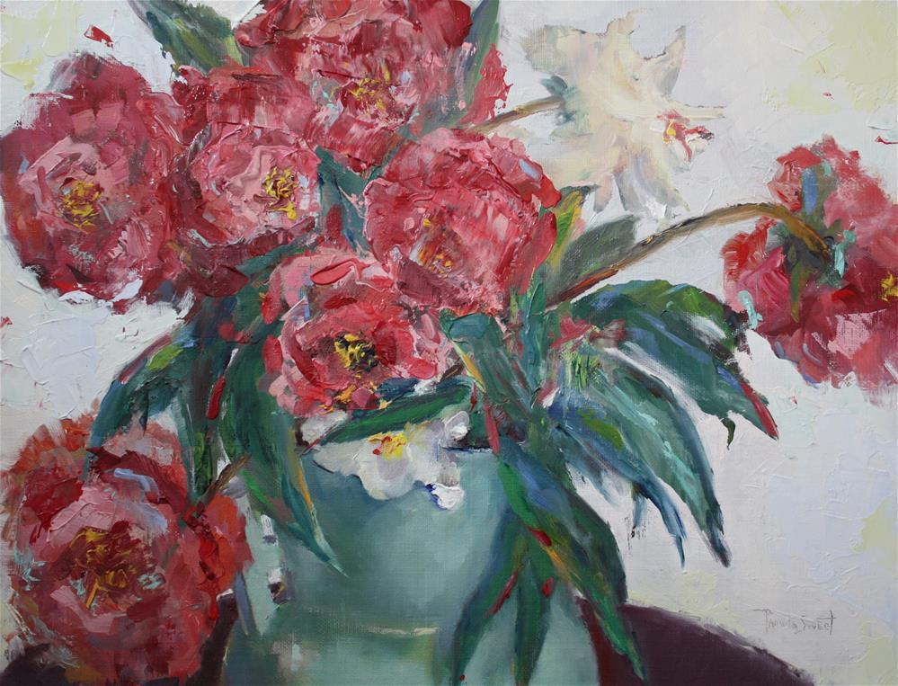 """Grandma's Peonies"" original fine art by Pamela Sweet"