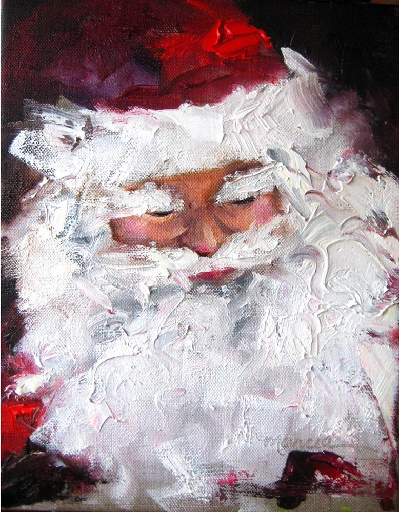 """Santa - Looking Over the List One Last Time"" original fine art by Marcia Hodges"