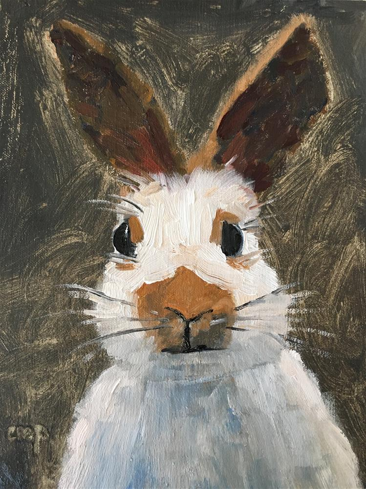 """Bunny"" original fine art by Christine Parker"