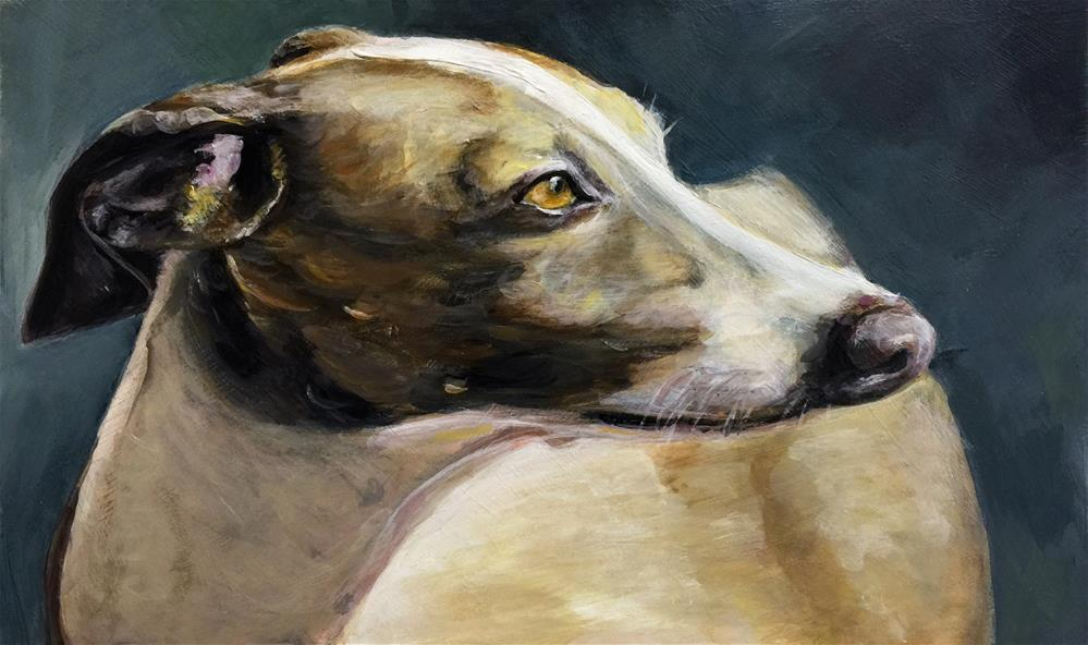 """Italian Greyhound"" original fine art by Sunny Avocado"