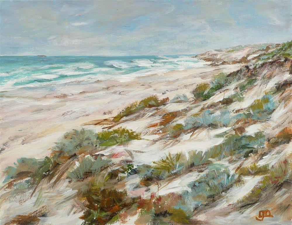 """Coastal Dunes"" original fine art by Leanne Owen"