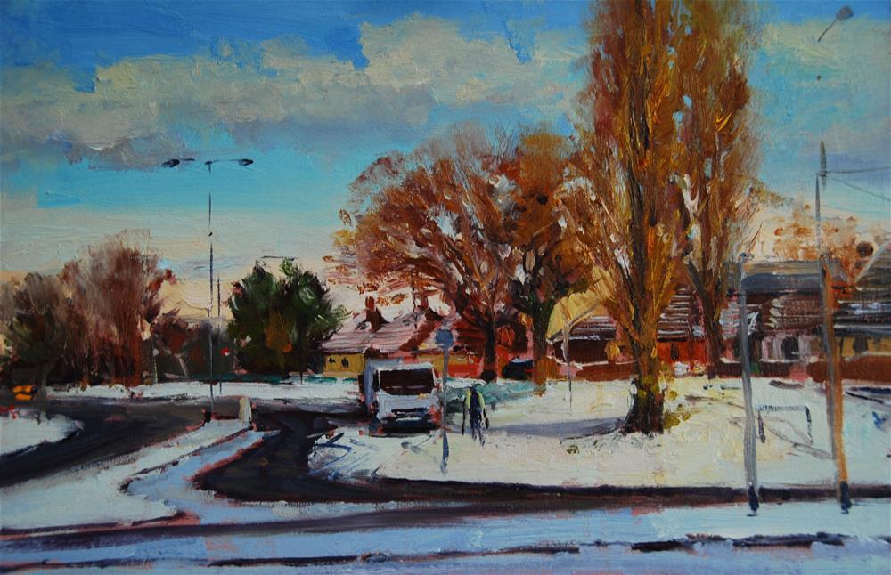 """urban snow effects"" original fine art by Adebanji Alade"