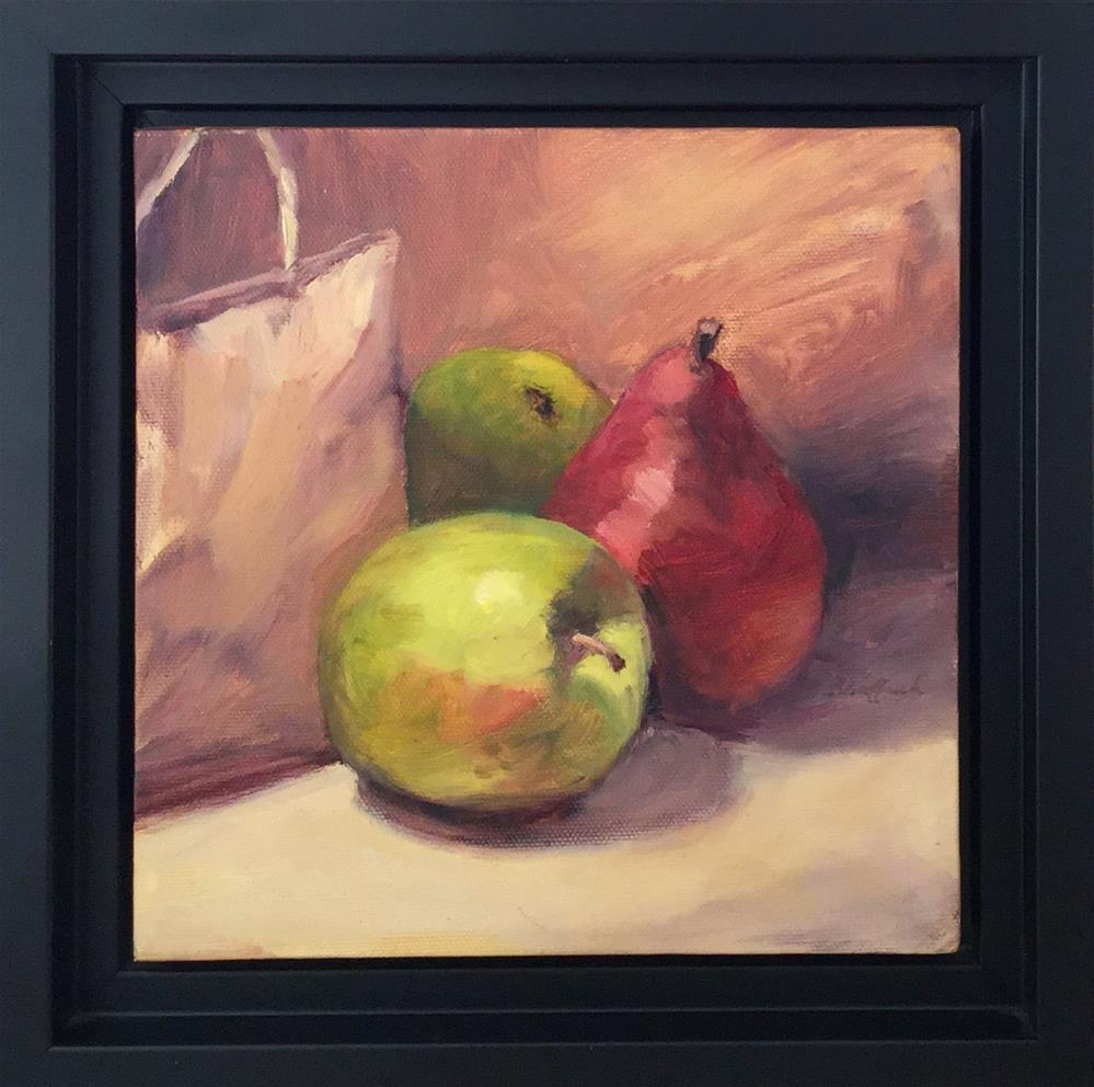 """Out of the Bag-Framed - January Studio Sale"" original fine art by Vikki Bouffard"