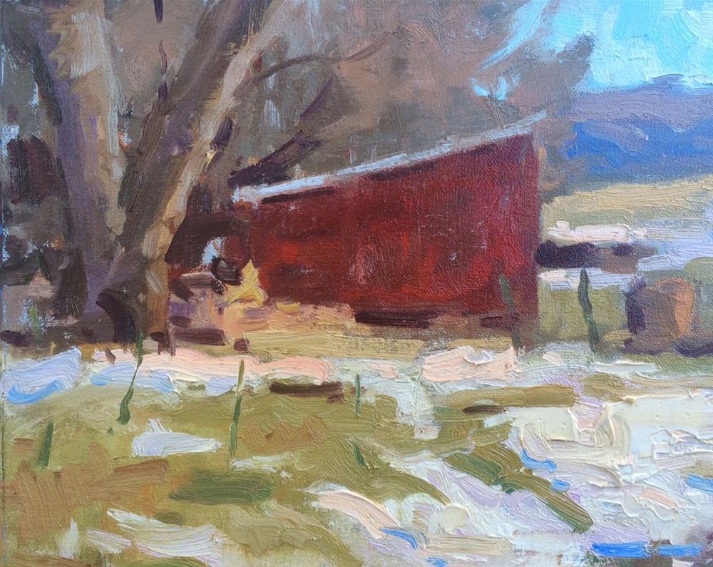 """January Farmyard "" original fine art by Michael Clark"