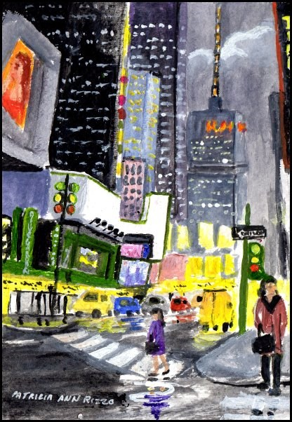 """NYC"" original fine art by Patricia Ann Rizzo"