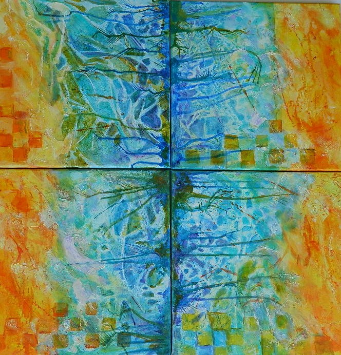 """Group Frottage"" original fine art by Gloria Urban"