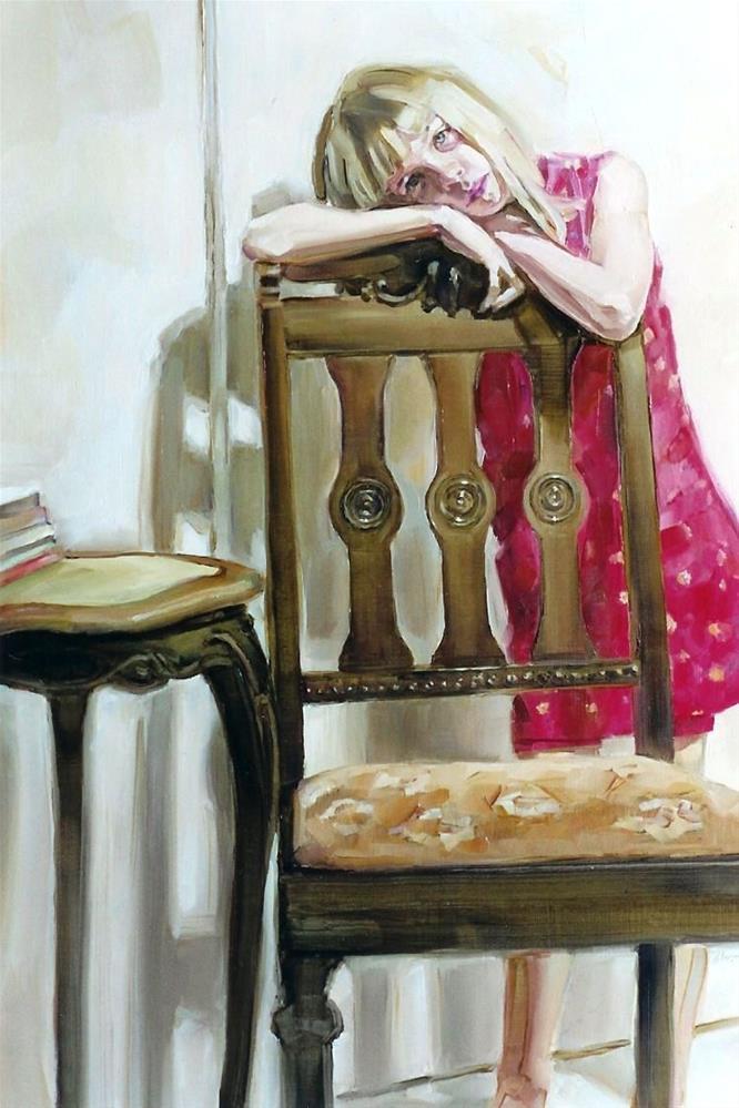 """Something to Lean On"" original fine art by Jeannette Fromm"