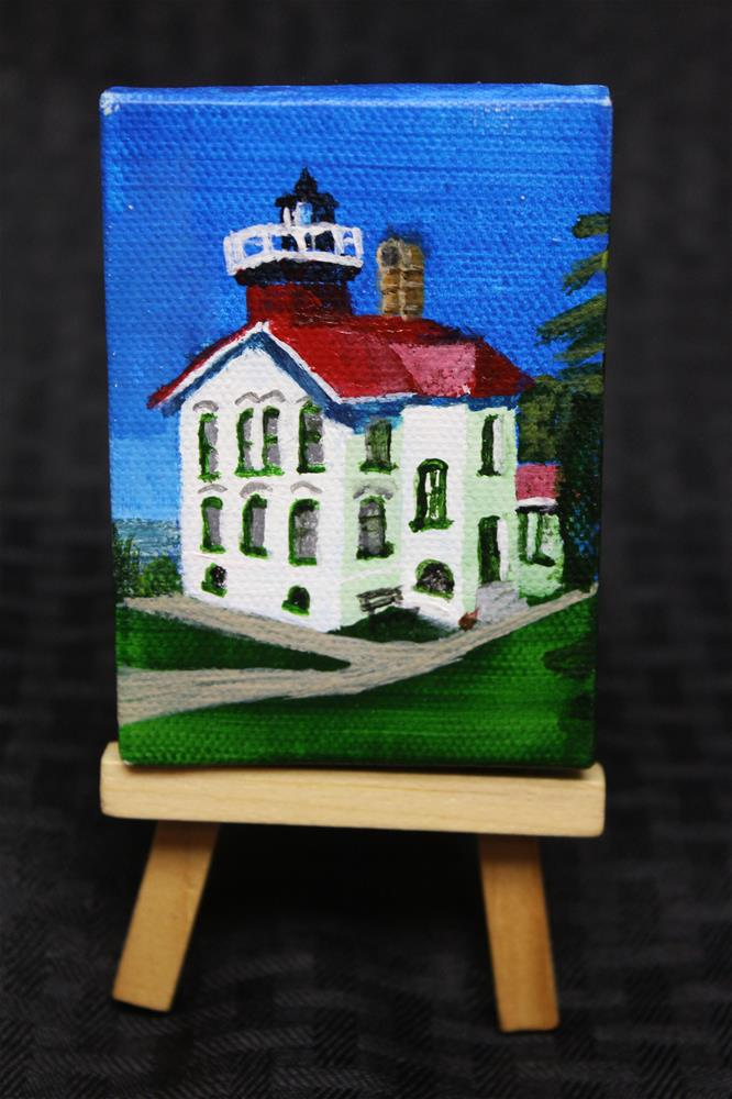 """Grand Traverse Lighthouse"" original fine art by Angela Z. Hamilton"