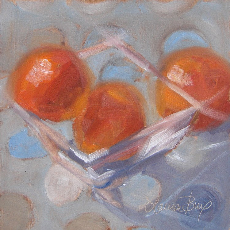 """Square Glass 461"" original fine art by Laura  Buxo"