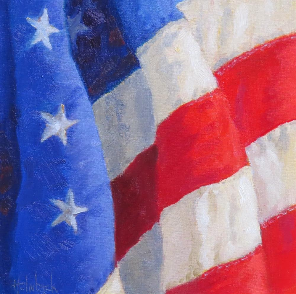 """Veteran's Day #2"" original fine art by Pam Holnback"