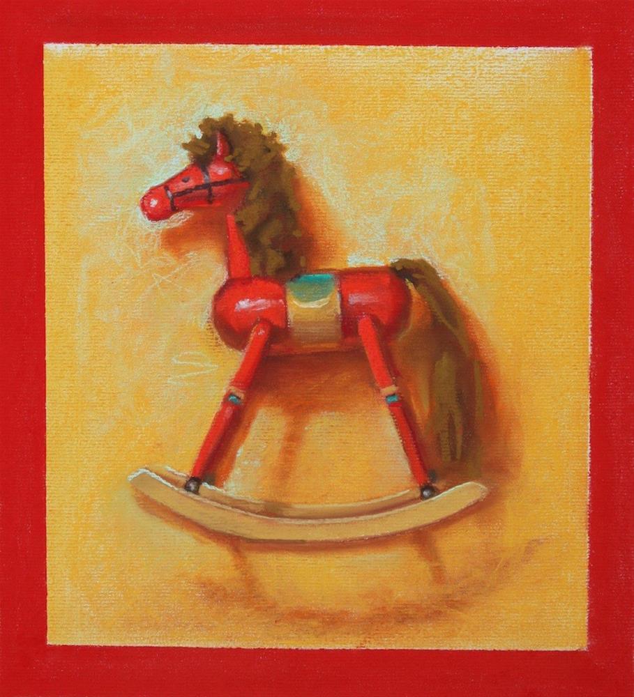 """""""Rocking Horse"""" original fine art by Jeannette Fromm"""