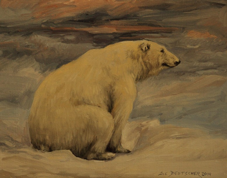 """Polar Bear"" original fine art by Sue Deutscher"