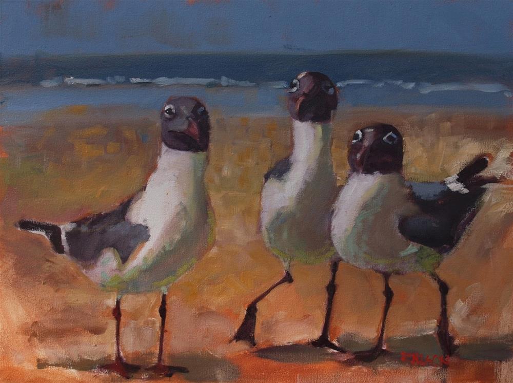 """We Three Seagulls"" original fine art by Rick Nilson"