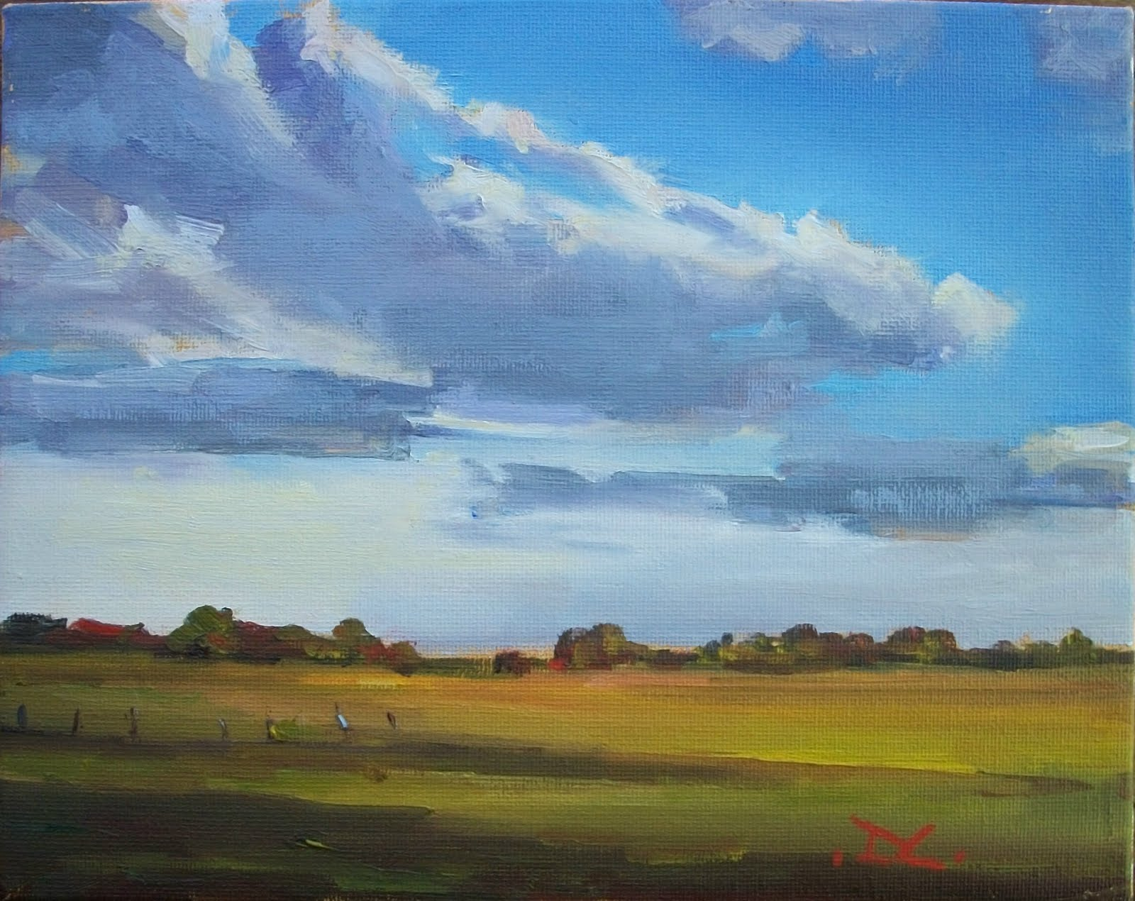 """SKYSCAPE #101"" original fine art by Doug Carter"