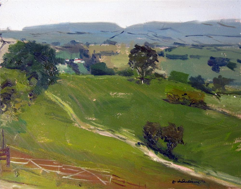 """Morning Light, welsh Landscape"" original fine art by Adebanji Alade"