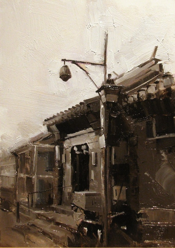 """On a Beijing Street 6"" original fine art by Qiang Huang"