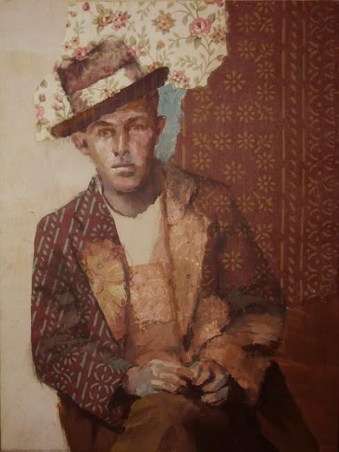 """""""Brown Suit"""" original fine art by Katie Wilson"""