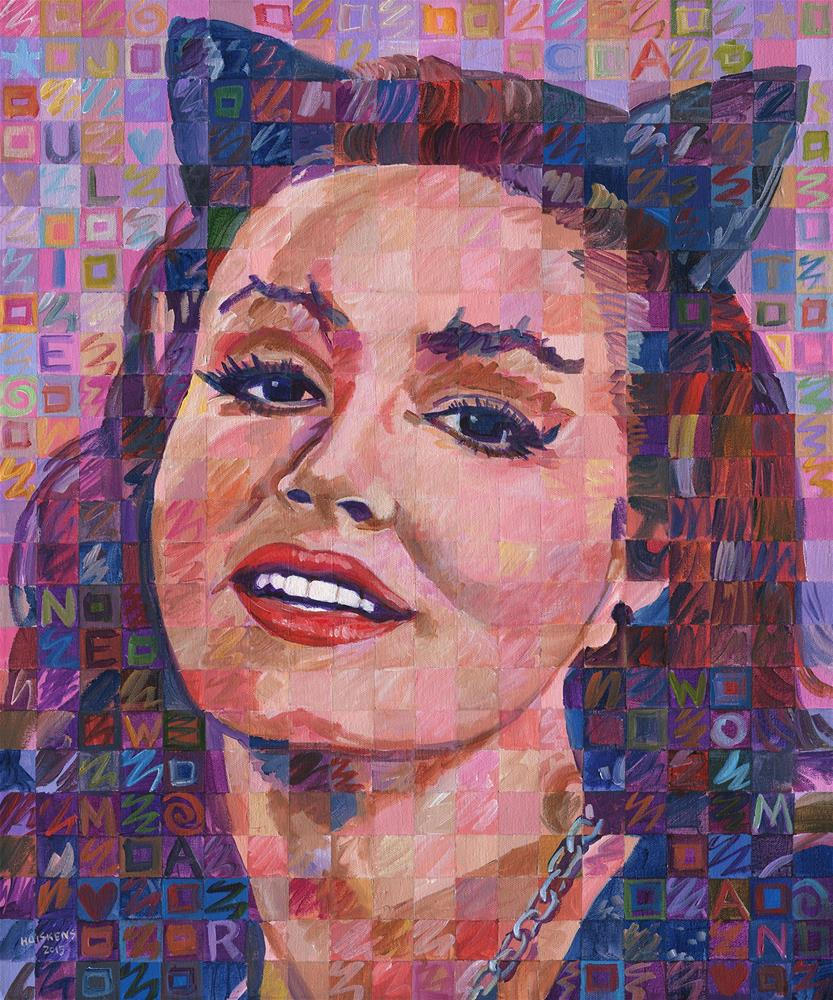 """Julie Newmar As Catwoman"" original fine art by Randal Huiskens"