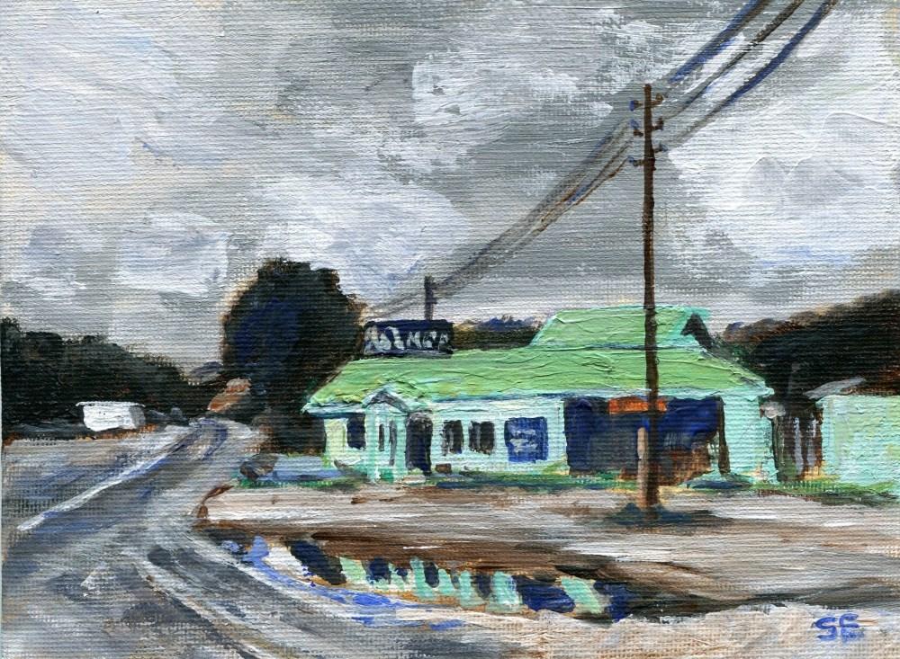 """""""Wet Prospekt"""" original fine art by Stanley Epperson"""