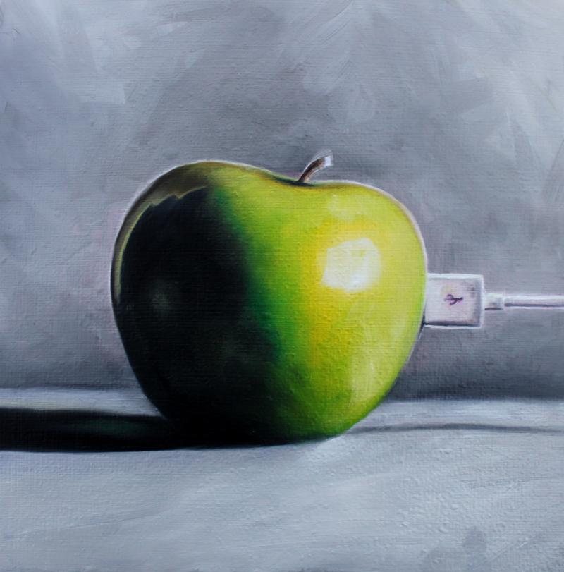"""Apple iFruit"" original fine art by Lauren Pretorius"