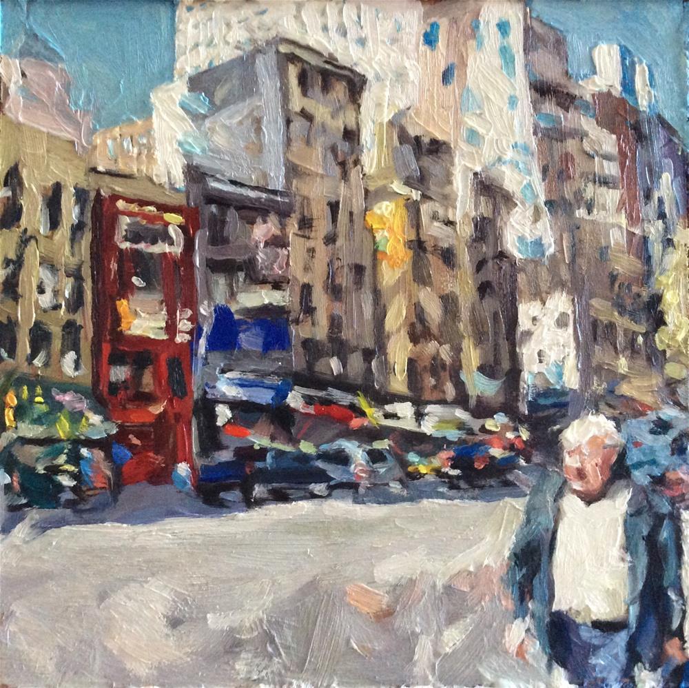 """Receding City"" original fine art by Paula Howson-Green"