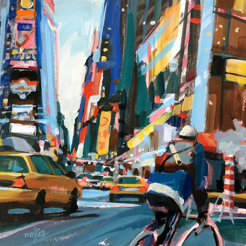 """Times Square Messenger"" original fine art by Patti Mollica"