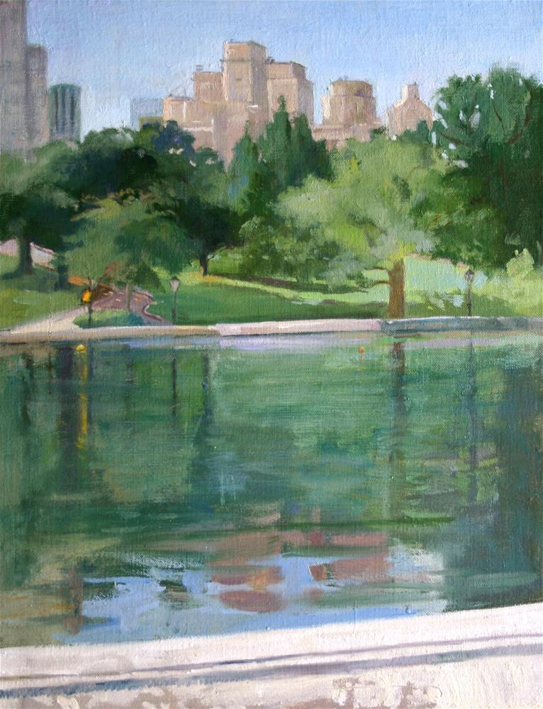 """The Lake, Central Park"" original fine art by Ann Buenaventura"