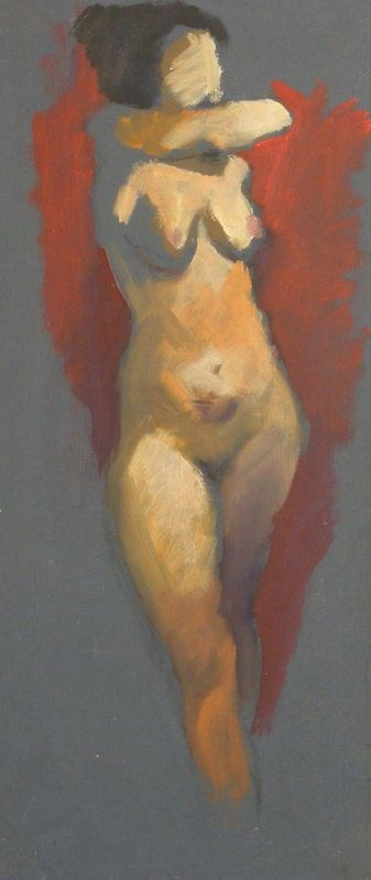 """Nude standing"" original fine art by Peter Orrock"
