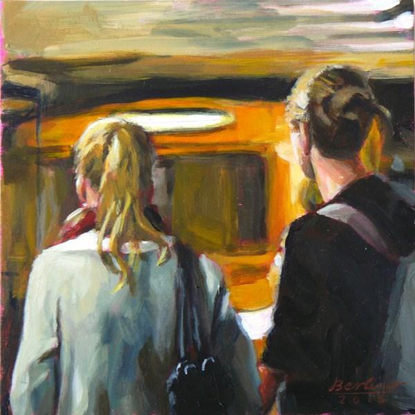 """""""073 Die U-Bahn kommt"""" original fine art by Anja Berliner"""