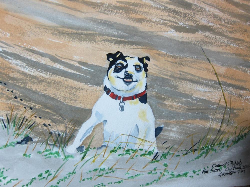 """Cosmo at the Beach"" original fine art by Tim Barraud"
