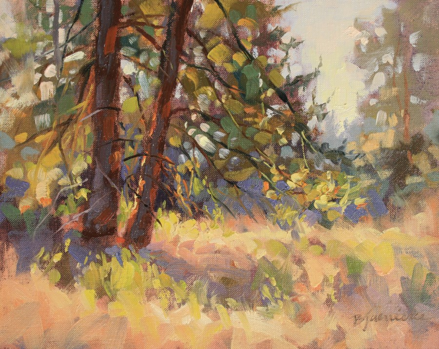 """Ponderosa Morning Dance"" original fine art by Barbara Jaenicke"