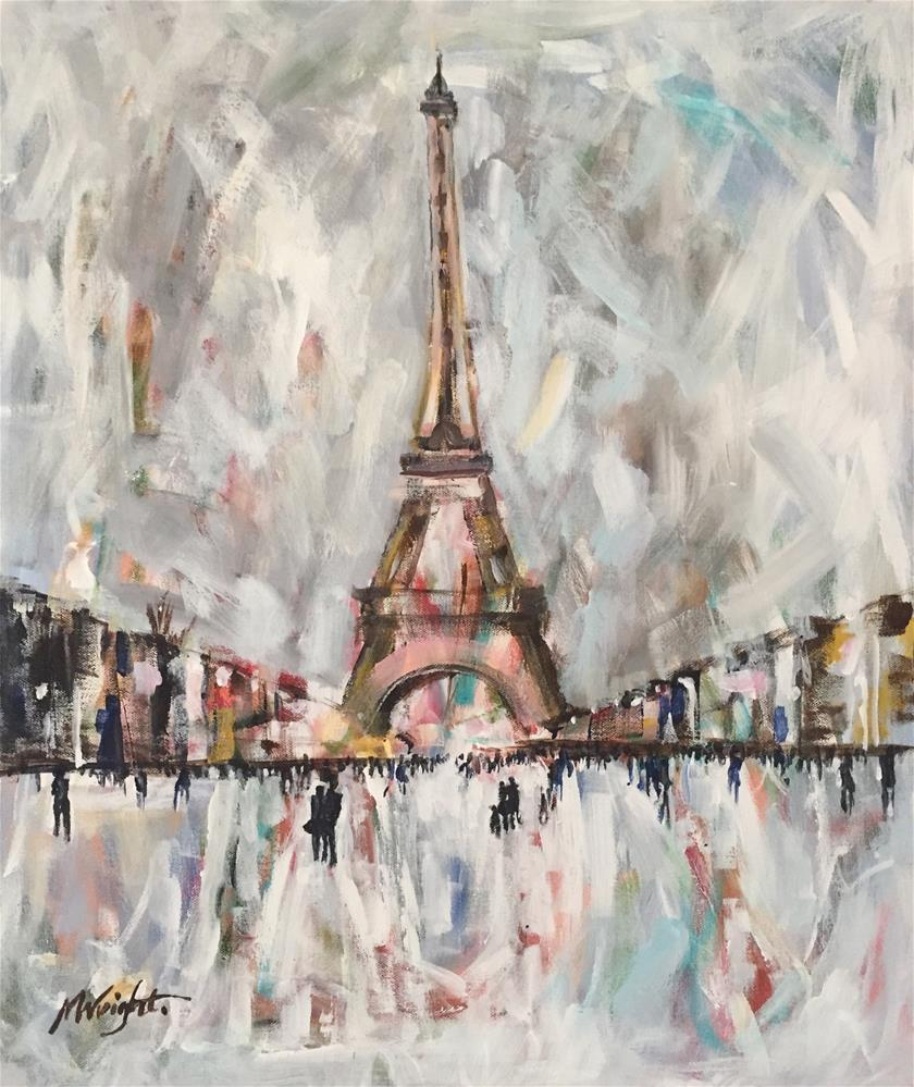 """Winter In Paris"" original fine art by Molly Wright"