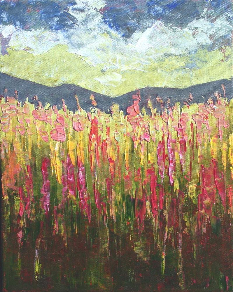 """Lupin Field"" original fine art by Sage Mountain"