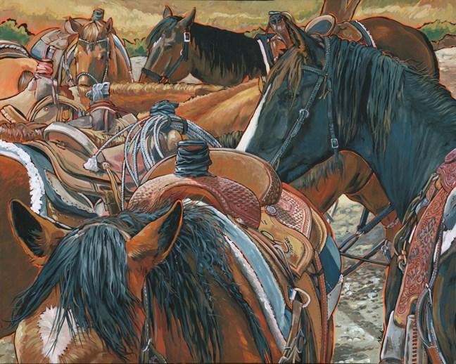 """Nine Saddled"" original fine art by Nadi Spencer"