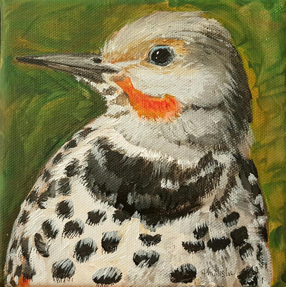"""Northern Flicker"" original fine art by Phyllisha Hamrick"