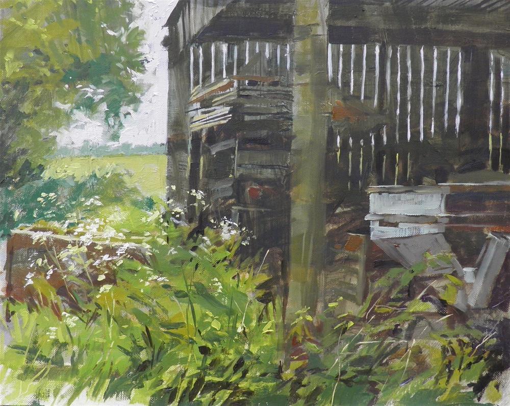 """Barn interior"" original fine art by Haidee-Jo Summers"