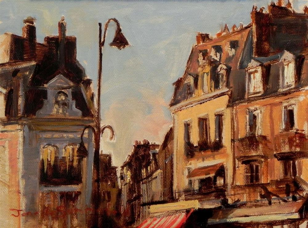 """Facades in Trouville"" original fine art by Jonelle Summerfield"