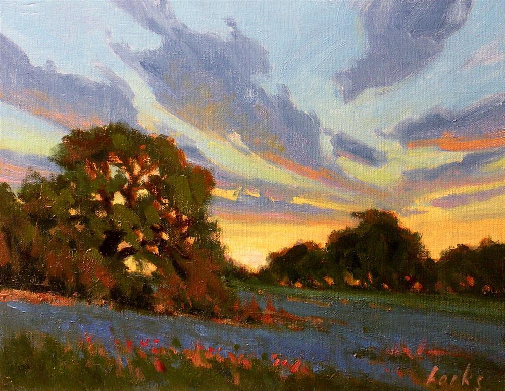 """""""Sunset"""" original fine art by David Forks"""