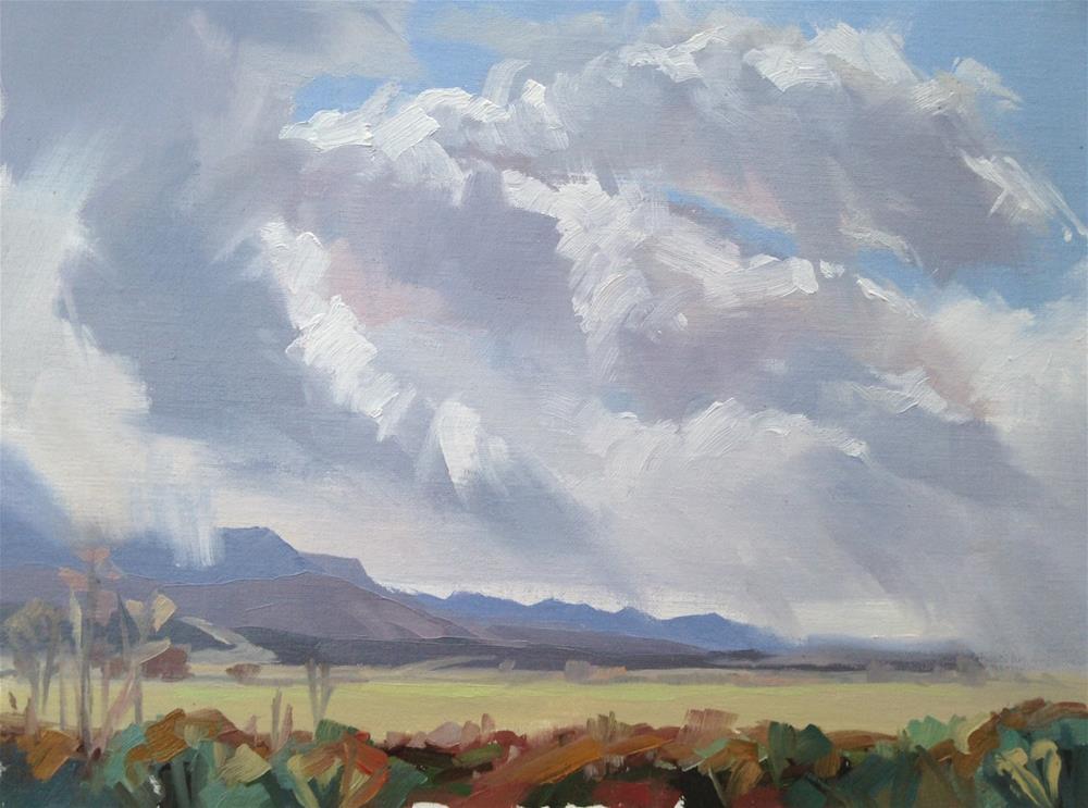 """Between Weather = Tween Rain and Snow"" original fine art by Mary Jabens"