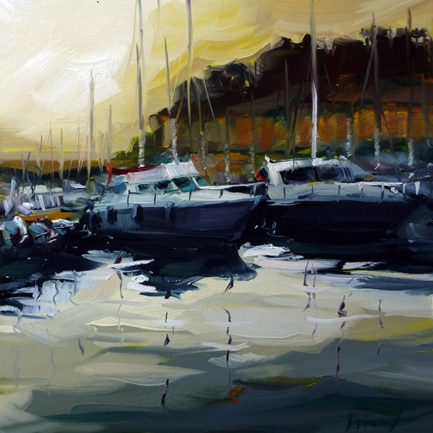 """Boote"" original fine art by Jurij Frey"