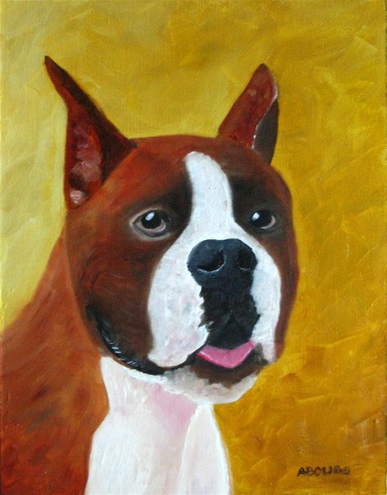 """""""Boxer Pride"""" original fine art by Sandy Abouda"""