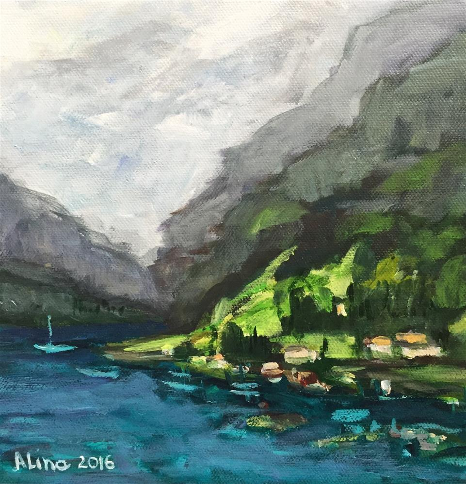 """Nærøyfjord View"" original fine art by Alina Vidulescu"