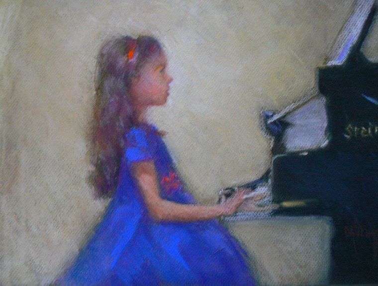"""Recital, 9x14 Pastel, SOLD"" original fine art by Carol Schiff"
