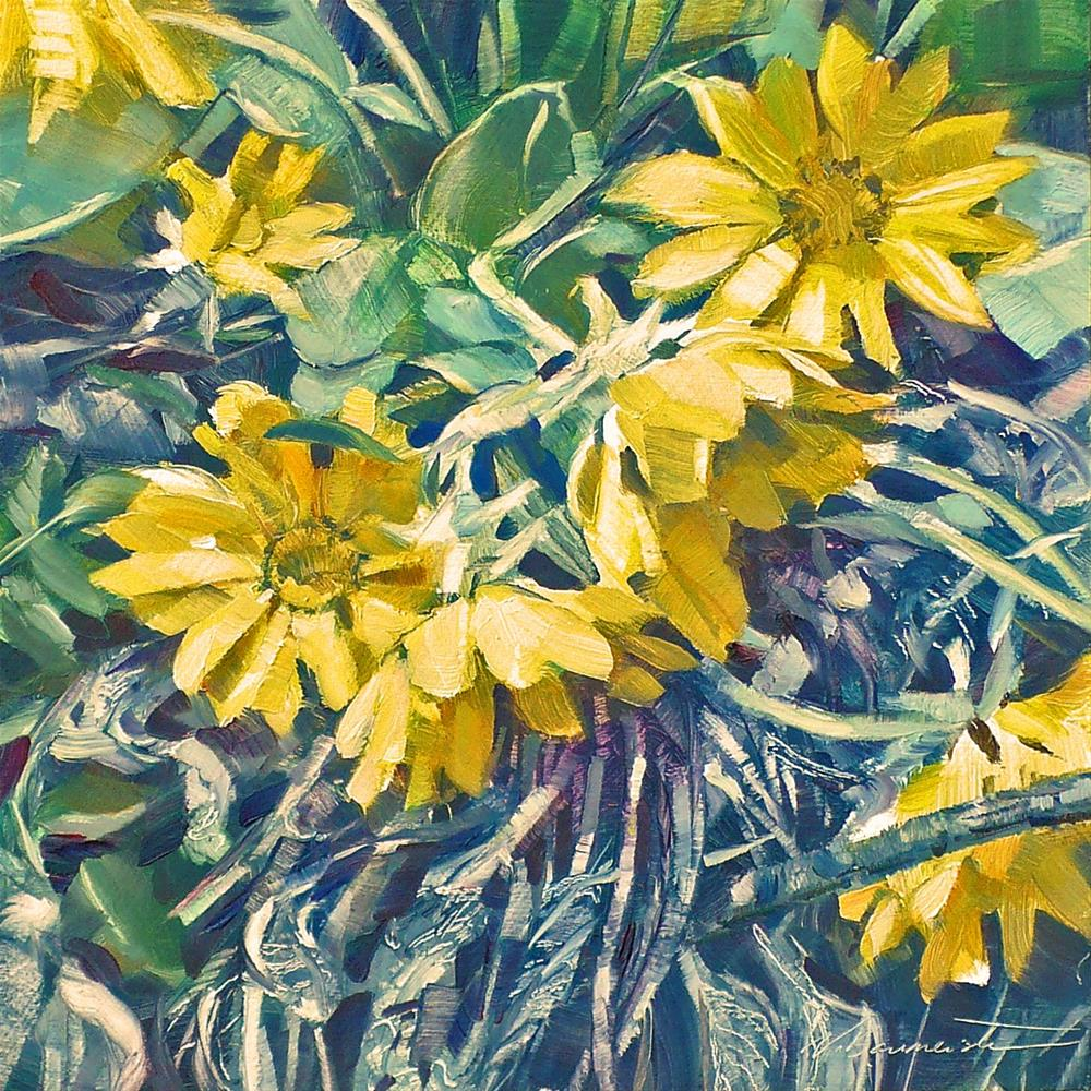 """Okanagan Sunflower"" original fine art by Nicoletta Baumeister"
